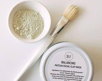 Balancing Organic matcha, oat and white kaolin clay mask - 80g