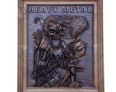 Heavy Metal Skull Band Wa...