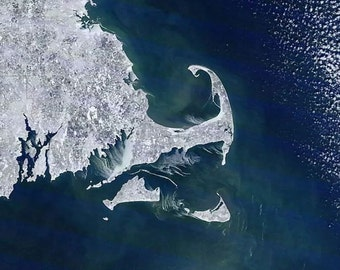 Cape Cod as Seen From Space