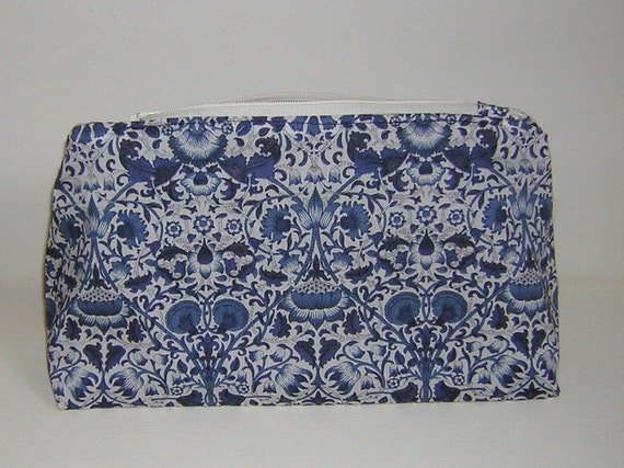 Liberty Fabric Large Make Up Bag  'Lodden'