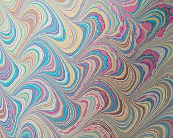 """Marbled Paper #33 - 18""""x22"""" - Seussical (Bookbinding)"""