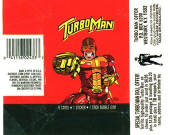 Turbo Man faux wax pack print
