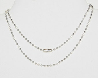 Sterling Silver-Filled Ball Chain