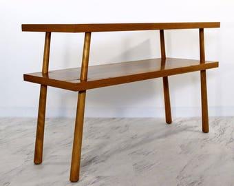 Mid Century Modern Robsjohn Gibbings Widdicomb Two Tier Console Table 1950s