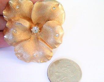 Vintage Coro Brooch / Pin / Pansy Brooch / Pin / Coro Jewelry / Pansy Jewelry / Flower Brooch / Pin / Flower Jewelry /