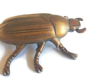 Antique Bronze Beetle / Bronze  Scarab / Paper Weight / Bronze Items / Bronze Statue / Cicada Items / Beetle Items / Bronze Paper Weight