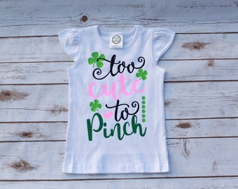 Cute St. Patrick's Day Shirt; St. Patrick's Day Girls Shirt; Cute St. Patrick's Day Vinyl Shirt; Heat Pressed Vinyl St. Patrick's Day Shirt