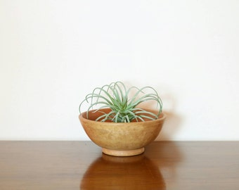 Small Clay Bowl, Earth Tone Pottery, Vintage Decorative Bowl, Small Airplant Holder, Paperclip Ring Holder, Home Decor, Accents, Gifts