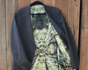 OAK Mens Wedding Jacket,420 Wedding,Weed Jacket, Men's Blazer,Men's Sport Coat,Men's Suit Jacket,Upcycled Jacket,Men Jacket, Cannabis Jacket