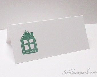 Place card with stamped House (6 PCs)