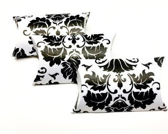 Pillow Boxes Pillow Box Favor Pillow Boxes Custom Pillow Box Small Pillow Boxes Mini Pillow Boxes Black And White Damask