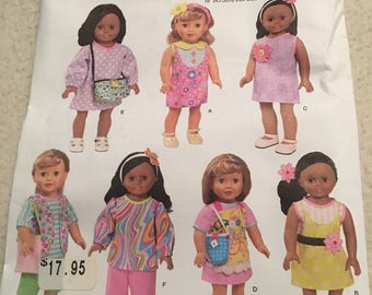 Simplicity 18'' doll clothes pattern