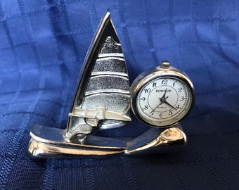 Miniature clock collection - windsurfing - Sonnie