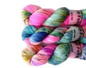 Sock Yarn Superwash Merino/Nylon 85/15 4ply Handdyed Yarn: STARDUST