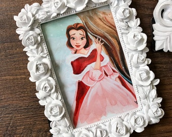 "Christmas Princess Framed 4x6"" Wall-hung or Taletop Print."