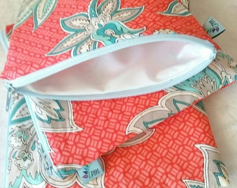 Bold Paisley Floral | Cloth Pad Wetbag | SMALL