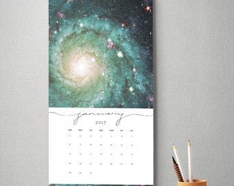 2017 Wall Calendar, 9.5 x 17.25, 2017 Calendar, Stars Universe Galaxy  (cal0016)