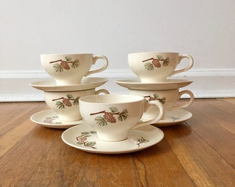 Stetson Brown Pinecone Cup & Saucer Set