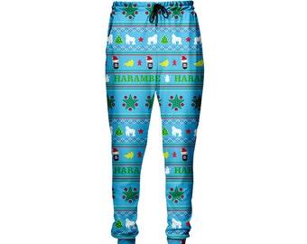 Harambe Christmas Jogger pants