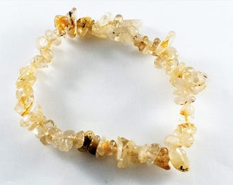 Citrine Chip Stretch Bracelet