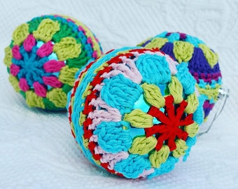 Crochet Pattern ~ Instant Download ~ Christmas Decorations ~ BIG Baubles