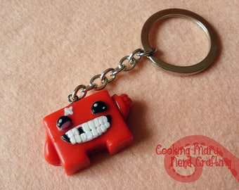 Super Meat Boy keychain