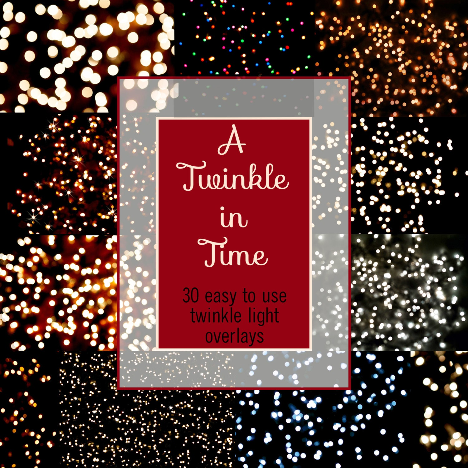 A Twinkle In Time Twinkle Light Digital Overlays For Photoshop