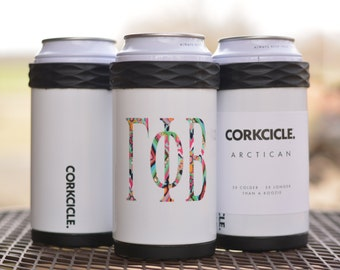BOTTLE or CAN - the Corkcicle Artican will keep them cool!  Personalize yours with your monogram!