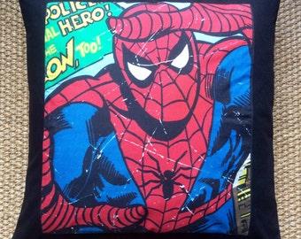 "Marvel Comics Superheroes ""Spiderman"" Fabric Cushion With Interior 40cmx40cm"