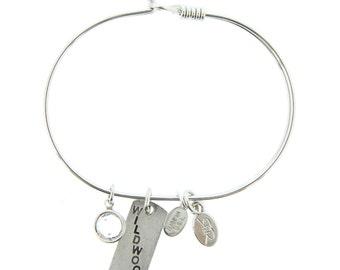 Silver Wildwood Bracelet with Swarovski Crystal