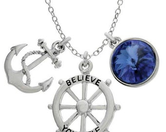 "Swarovski ""Believe Yourself"" Nautical Charming necklaces [FREE SHIPPING]"