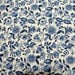 BTY 18th Century Inspired Cotton Print Fabric ~ shades of indigo blue flowers ~ by the yard ~ for 1760s-1780s Revolutionary War (FAB-WMB)