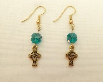 Clover and Cross earrings