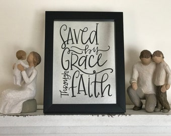 5x 7 Floating Frame - Saved by Grace