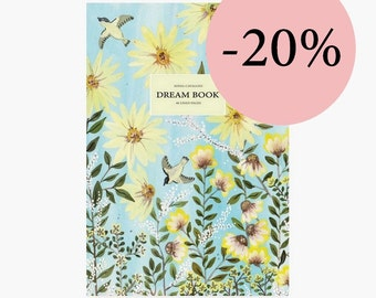 Journal, Notebook, diary, dream, dreambook, A5,stationery, carnet, bird, journal intime, gift, fleurs,cahier, Tagebuch,illustration, vintage