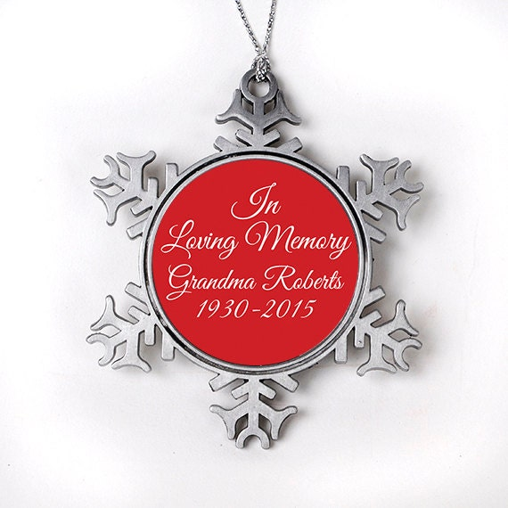Memorial Christmas Ornament Personalized In Loving Memory