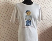 vintage woman - man  t-shirt, white t-shirt original Polo Ralph Lauren, vintage clothes
