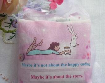 Lavender Sachet set - fragrant sachets, lavender sachets, lavender pillow, inspirational quote, gift for friend, gift for mum