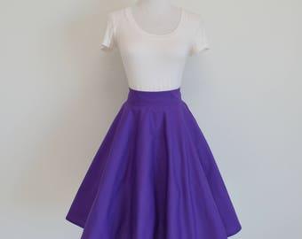 Tulip Purple Homemade Circle/Swing Skirt