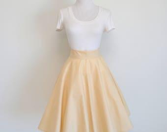 Cream Homemade Circle/Cream Skirt