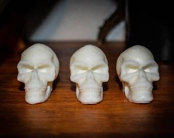 3 Nag Champa Scented Soy Wax Skull Melts