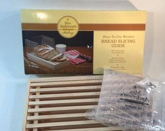 New/Old Wooden Bread Slicing Guide By Mrs. Anderson's