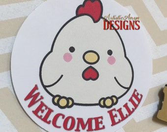 """Year of the Rooster 2"""" Custom Favor Tags - Digital File - DIY Printable - Red Egg & Ginger Party"""