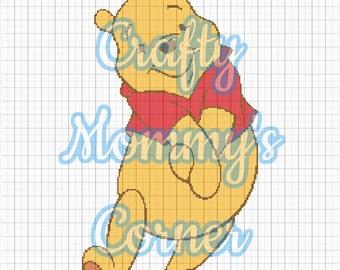 Winnie the Pooh Graphghan, Crochet Graphghan, Afghan Pattern, Kids Afghan
