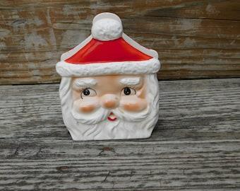 Vintage Santa Claus Ceramic Napkin Holder Japan