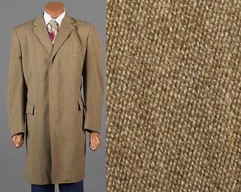50s Brown Overcoat 1950s Twill Coat 50s Brown Car Coat 1950s Overcoat 50s Overcoat 1950s Winter Coat 50s Brown Coat Vintage Overcoat 50s 40