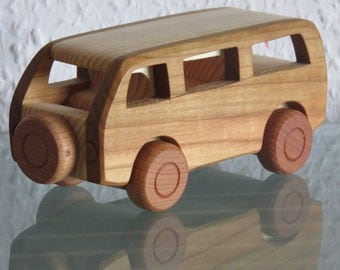 bus minibus wood car modellcar wood very rare handwork