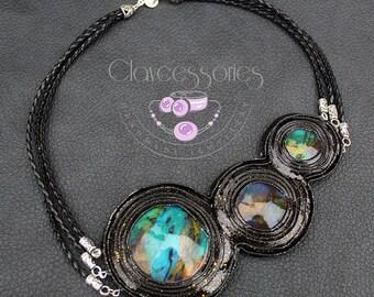 Cosmos necklace / Space necklace / Galaxy necklace / Universe necklace / Nebula necklace / Astronomy necklace / Polymer clay necklace