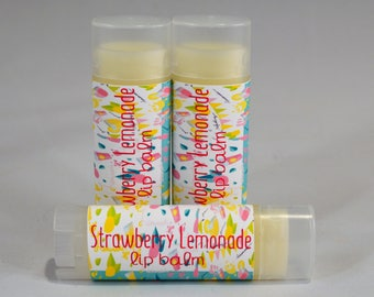 Strawberry Lemonade Lip Balm- Strawberry-Lemonade-Chapstick-Lip Butter