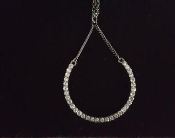 Beautiful rhinestone u shaped necklace